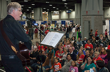 NIH Director Dr. Francis Collins performs at the 2012 USASEF