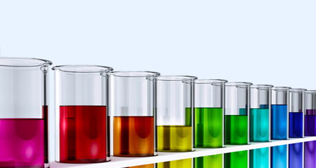 Rainbow colored test tubes